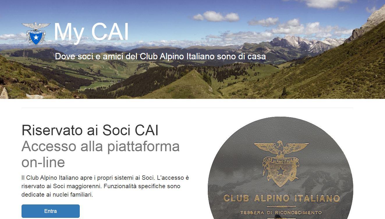 You are currently viewing Accesso alla piattaforma on-line del Club Alpino Italiano – MyCAI